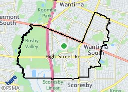 Location of Wantirna South