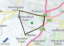 Location of Edmondson Park