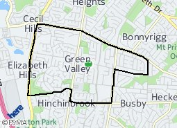 Location of Green Valley