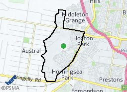 Location of West Hoxton