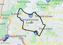 Location of Templestowe Lower