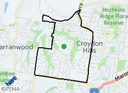 Location of Croydon Hills
