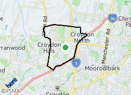 Location of Croydon North