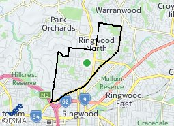 Location of Ringwood North