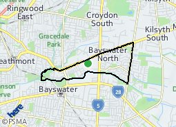 Location of Bayswater North Community Renewal Area
