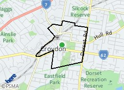 Location of Croydon Town Centre