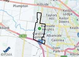 Location of Caroline Springs