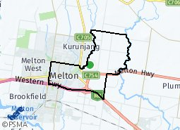 Location of Melton