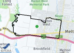 Location of Melton West