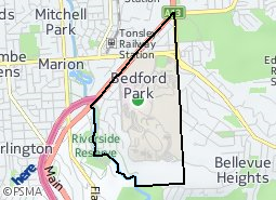Location of Bedford Park