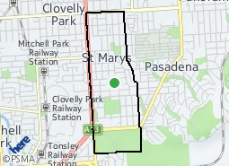 Location of St Marys