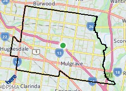 City Of Monash Boundaries Map