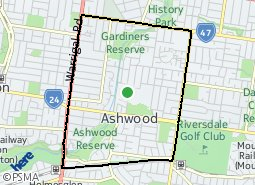 Location of Ashwood - Burwood