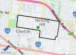 Location of Notting Hill