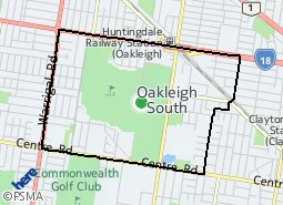Location of Oakleigh South