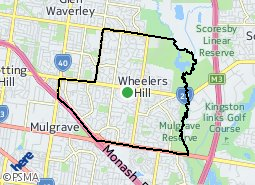 Location of Wheelers Hill