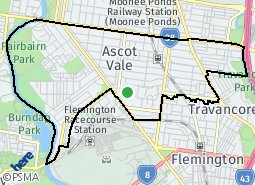 Location of Ascot Vale