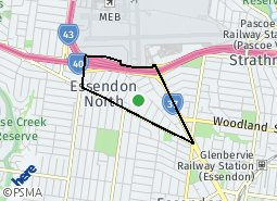 Location of Essendon North
