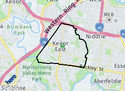 Location of Keilor East