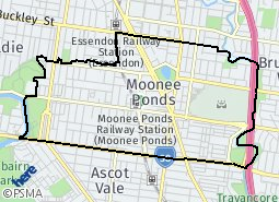Location of Moonee Ponds