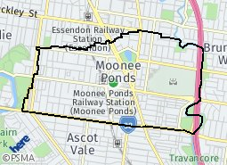 Location of Moonee Ponds (N)
