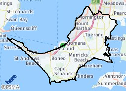 Mornington Peninsula Map Mornington Peninsula Shire suburb map