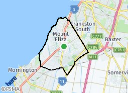 Location of Mount Eliza