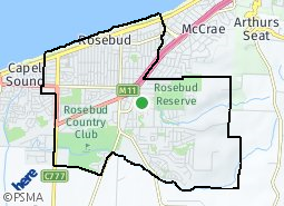 Location of Rosebud