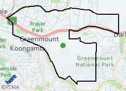 Location of Greenmount
