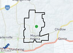 Location of Mount Helena