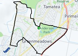 Location of Greenmeadows