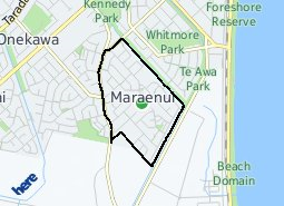 Location of Maraenui