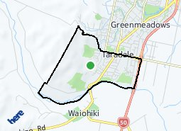 Location of Taradale South