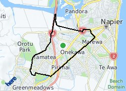 Location of Onekawa - Tamatea Ward