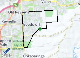 Location of Woodcroft
