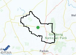 Location of Peak Hill and District