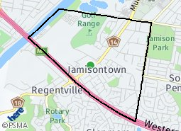 Location of Williamstown North - The Rifle Range