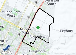 Location of Blakeview