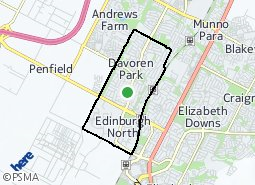 Location of Davoren Park - Elizabeth West
