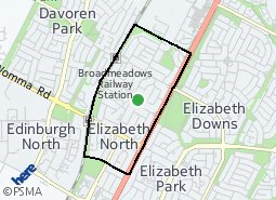 Location of Elizabeth North
