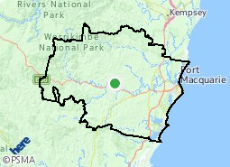 Image result for Municipality of Port Macquarie map