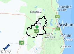 Location of Toowoomba Regional Council area