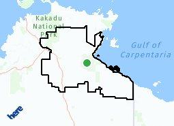 Location of Roper Gulf Regional Council LGA