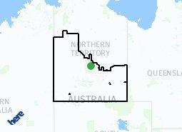 Location of Central Australia