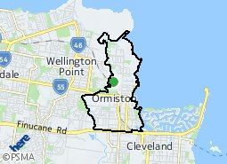 Location of Ormiston