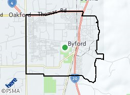 Location of Byford area