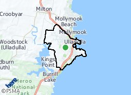 Location of Ulladulla