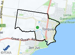 Old Torquay Torquay West suburb map