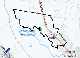 Location of Oxley Vale