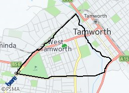 Location of West Tamworth (Central)